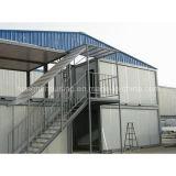 Дом контейнера стального панельного дома типовой конструкции живущий