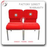 Chaise d'Ecclesia personnalisée par logo extérieur rouge d'église (JC-39)