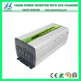 inverseur de pouvoir de véhicule d'UPS 1500W avec le chargeur et l'affichage numérique (QW-M1500UPS)