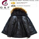 Shell Diamond Quilting Ladys Jacket mit Fur Collars