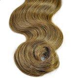 Trama 100% brasileira do cabelo humano de Brown da onda do corpo do Virgin do cabelo de Remy