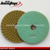 Спиральн желтая полируя пусковая площадка для камня гранита