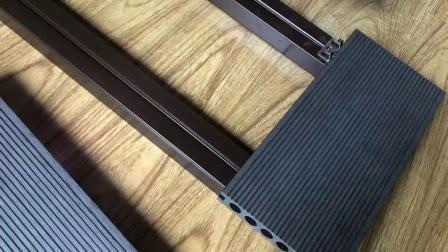 100% reciclables 12 pies de ancho Exterior compuesto de WPC cubierta Piscina pisos revestimientos/compuesto