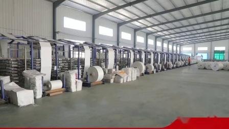 China Supply 60cm * 100cm Weiße PP gewebte Säcke in Rolle