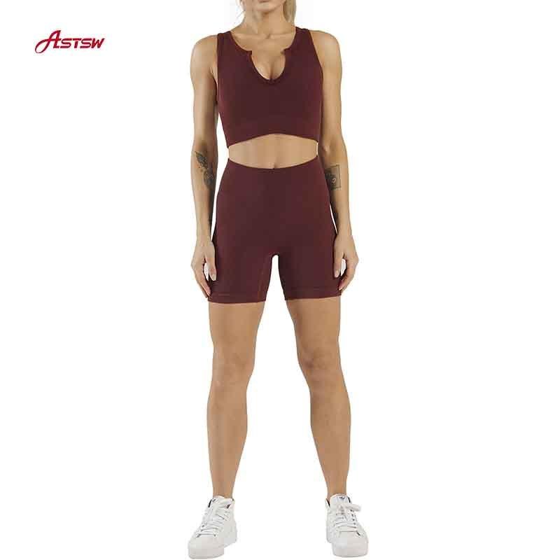 Ensembles d'entraînement pour femmes 2 pièces taille haute short Fitness Combinaison de yoga sans couture