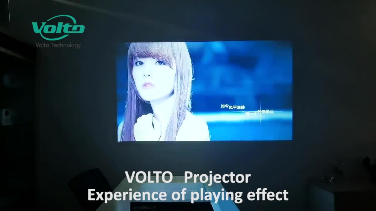 Home Theater Mini Cinema Portátil LCD LED de Projeção Curta Smart WiFi Pocket Projector de Vídeo para piscina /home