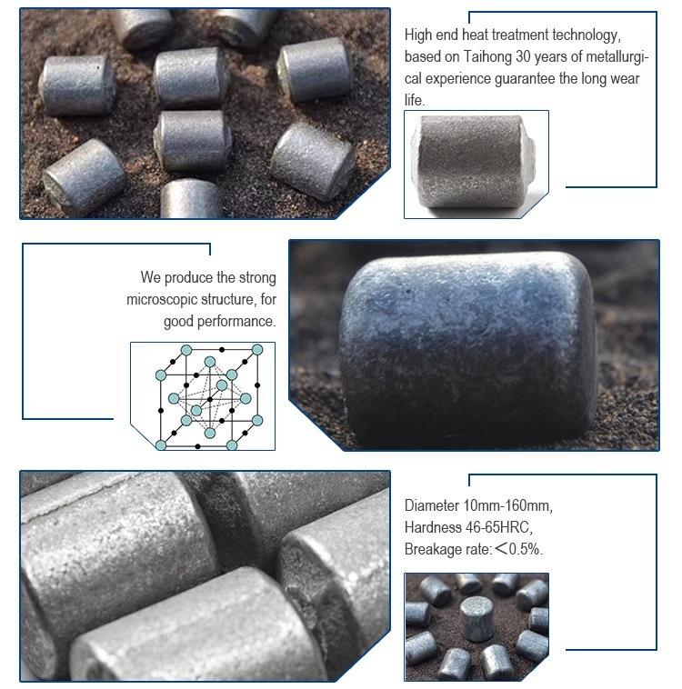 Hoge Prestaties van de Gesmede Malende Bal van het Staal voor de Installatie van het Cement