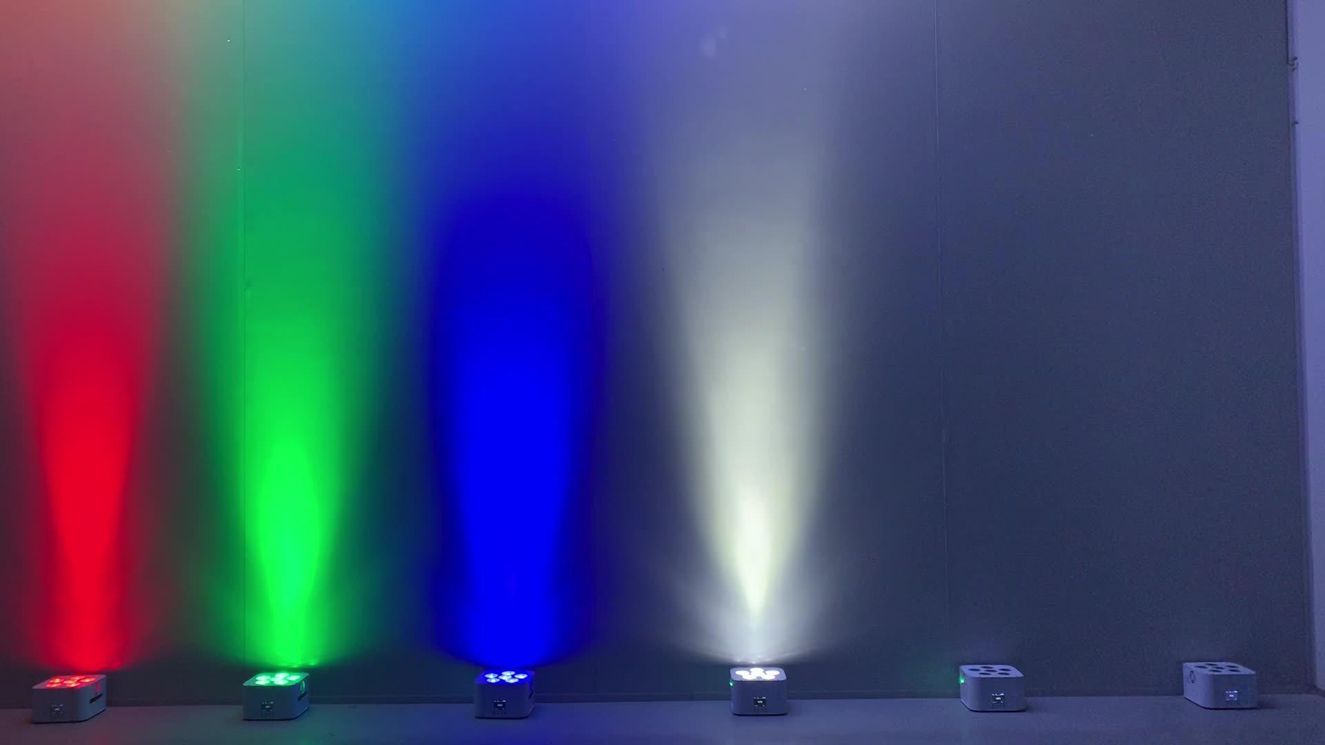 Warm White Cold White 54 * 3W RGB Wasserdicht Big Dipper Sova LED PAR Light's Batteriebetrieb