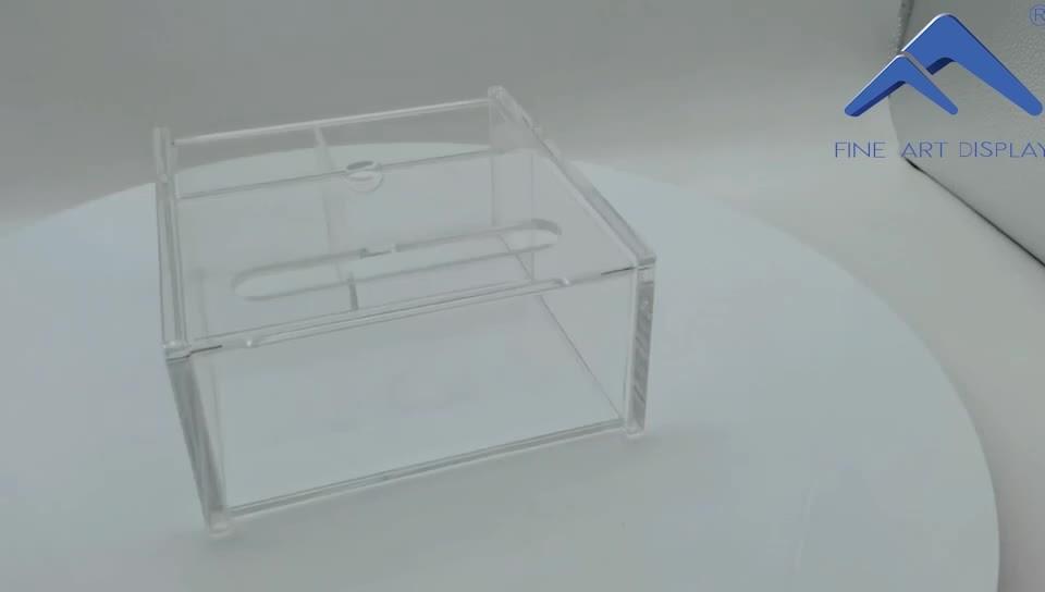 Lojas de varejo Double-Door requintado Personalizado Caixa de Exibição de maquiagem em acrílico transparente