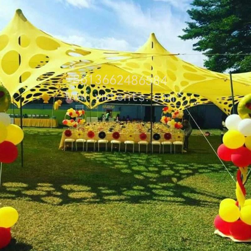 Größe Custom Stretch Zelte Hochzeit Veranstaltungen Outdoor-Werbung Von Käse Zelt