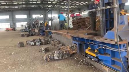 月次取引油圧スクラップ金属のアルミニウム焼成リサイクルプレス コンパクタマシンバラ