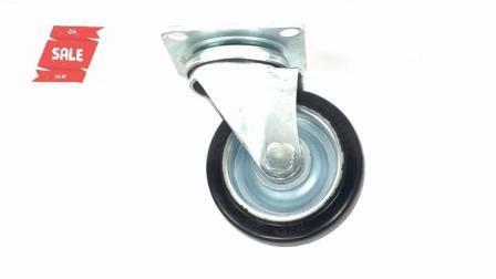 4 дюймов черная резиновая Японии продольного наклона оси поворота с двойной тормоз