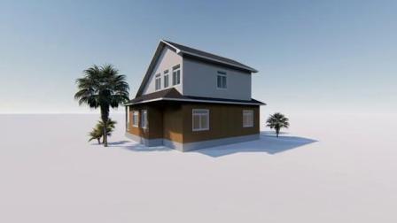Bem Projetado Lgs Madeira Edifício Pre-Fabricated Prefab House com 3 Quartos