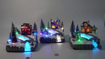 Populaire Geanimeerde Maison DE Noel Light op LEIDENE van Kerstmis van de Vezel Huis van het Optische het Verlichte Muzikale Dorp van de Hars met leiden van de Kleur Mult