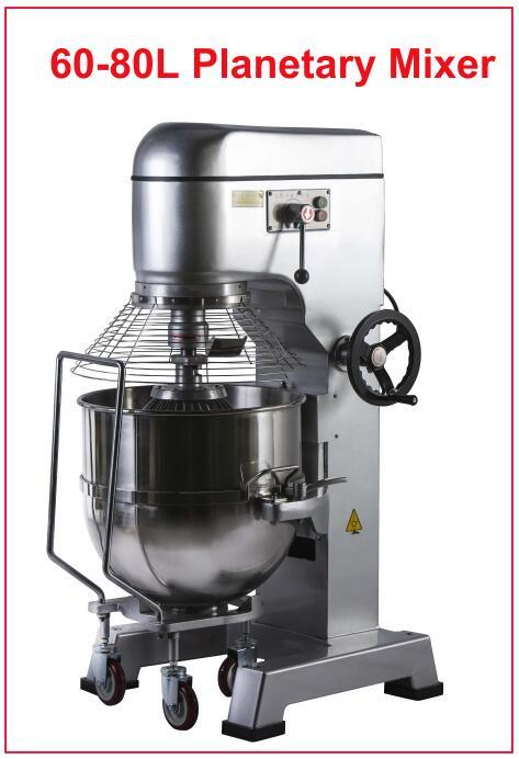Bakestar Planetaire Mixer 80L Cake Bread Dey Mixer commerciële Mixer
