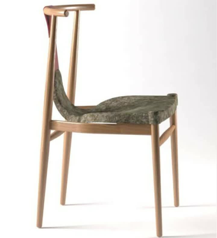 Massivholz & Polyester Stuhl für Innendekoration wie Büro & Bibliothek