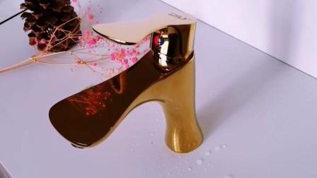 Rubinetto d'ottone del miscelatore del bacino della maniglia di rivestimento bianco del bicromato di potassio singolo Piattaforma-Montato