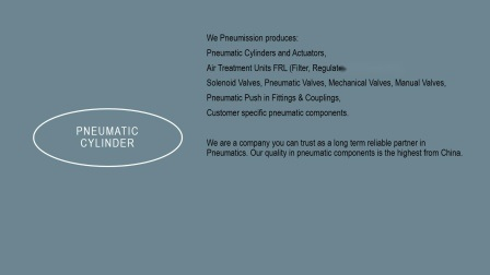 Série SC Pneumission electroválvula pneumática do cilindro de enchimento de ar
