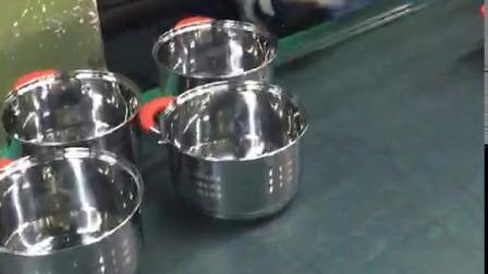 4 STUKS roestvrijstalen stomer set met glazen deksel