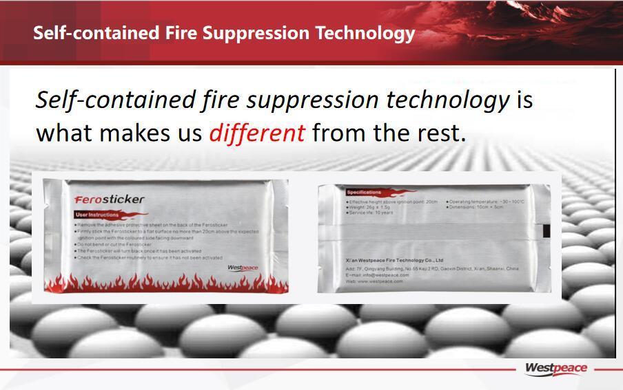 El fuego de supresión de incendios-contenidos Ferosticker-Self fuego dispositivo adhesivo