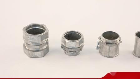 Stalen buis met gegalvaniseerde buis, fitting Aluminium EMT-connector compressie Type