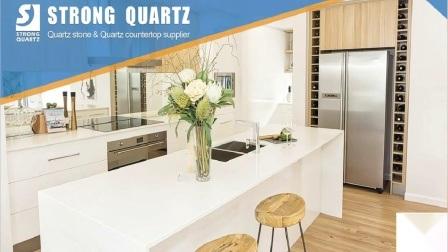 De grijze Plakken van de Steen van het Kwarts voor Gebouwd Countertops//het Ontwerp van Vanitytops/van het Hotel