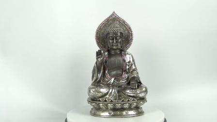 Nieuw kom Standbeeld van Boedha van de Hars van de Zitting van de Lijst van Feng Shui het Decoratieve Mediterende aan