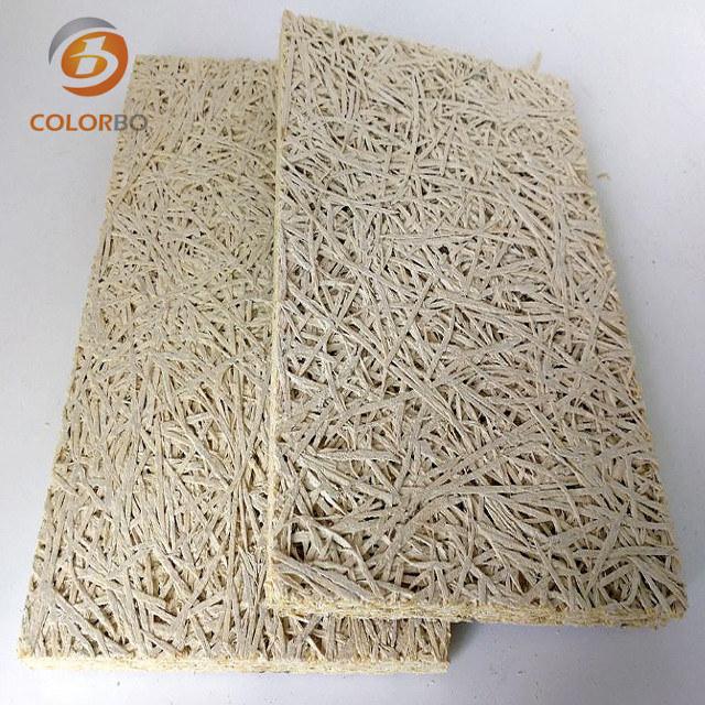 Rechteckige schallabsorbierende Wandverkleidung aus Holzwolle mit Dekorationsfunktion