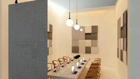 Mit Artistic Breath und Umwelt Polyester Fiber Material Indoor Partition Angezeigt