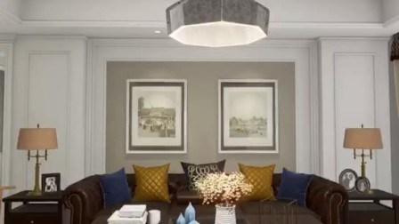 Runde Nod Art Haushalt Dekoration bequeme Installation von Polyester-Faser Lampenschirm