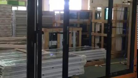 Material de construção moderna espessura 1,8 envidraçamento duplo cujas Aluminização Dobra de vidro Portas Bifold