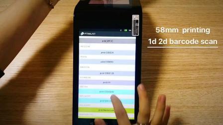 ハンドヘルドワイヤレスバーコードスキャナ Android Touch POS 端末( WiFi 対応 4G 内蔵プリンターカメラ PT7003