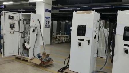 100KW de tres conectores DC cargador rápido combinado/50kw Chademo+ 25kw CCS2 + 25kw Gbt de estación de carga con Ocpp