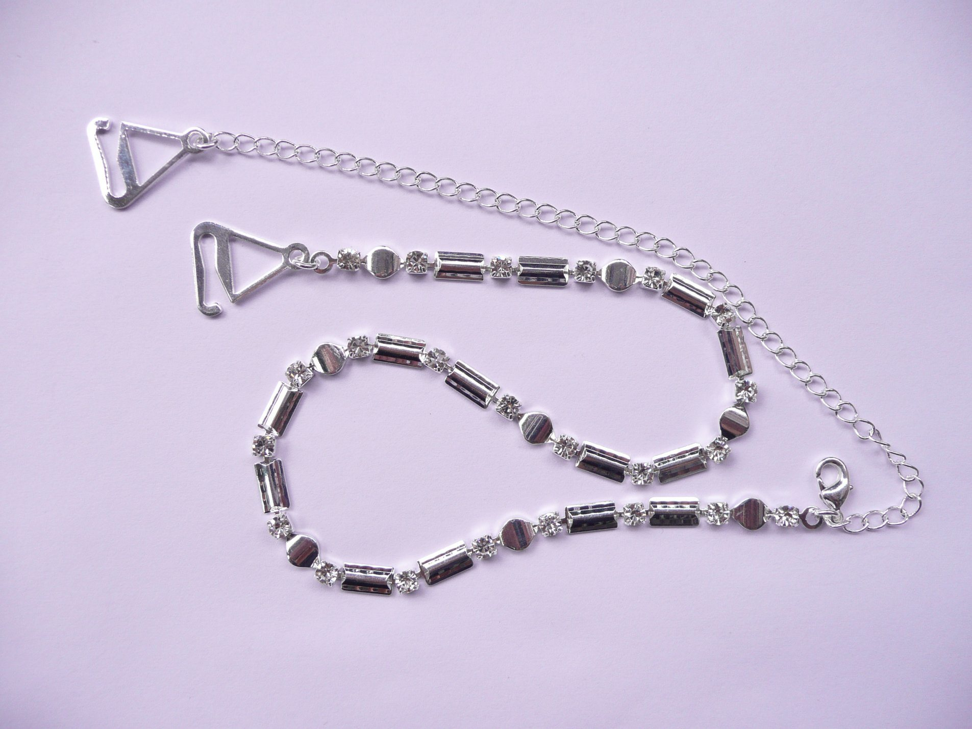 Il reggiseno di cristallo lega le cinghie del reggiseno del Rhinestone della cinghia del reggiseno di Diament
