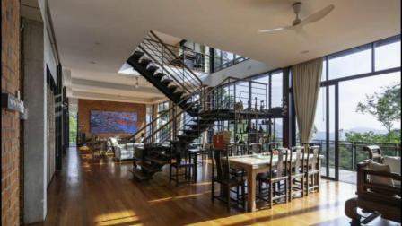 Châssis en acier léger Maisons préfabriquées 2 étage 5 chambres à coucher