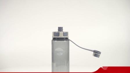 Бачок004 пластиковые пространства бутылка воды тритан широкий рот спорта бутылка воды с фильтром