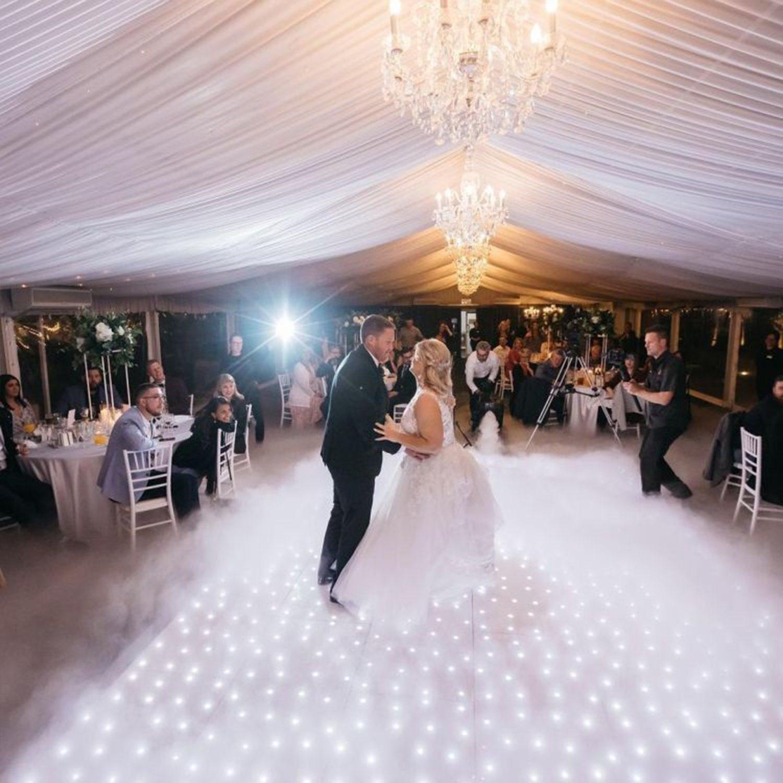 Best Price Wedding RGB 照光式、ポータブルディスコホワイト、星光 LED ダンスフロアと照明