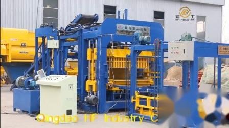 machine à fabriquer des blocs de béton Qt15-15 entièrement automatique de la vente au Ghana