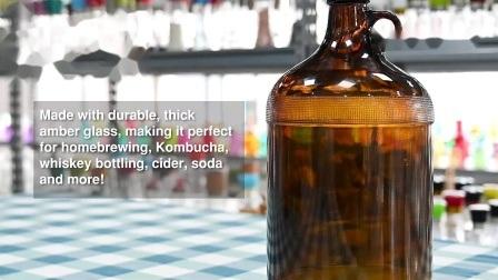 Gevormde Amber voor de Fles van het Glas van Antibiotica 100ml