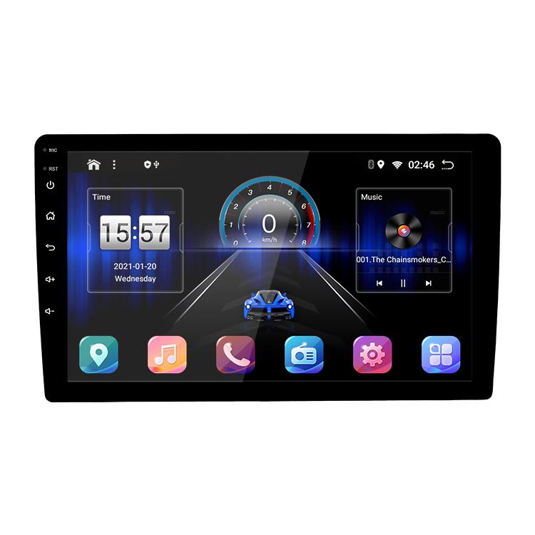 Ecrã táctil de alta definição de 10 polegadas 10 Carplay Android Leitor Multimédia RDS GPS 2 DIN Universal Rádio Estéreo para automóvel
