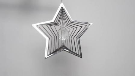 8 Spinner van de Wind van het Metaal van het Roestvrij staal van de Draaimolen van de Ambacht van de Ster van de duim de Decoratieve 3D