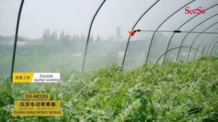المنتج الجديد 16 لترًا استخدام المقلاة الهوائية لضغطها على حقيبة الظهر الزراعية لعام 2018 بطارية كهربائية ودليل يدوي (SX-WM-SD16A)