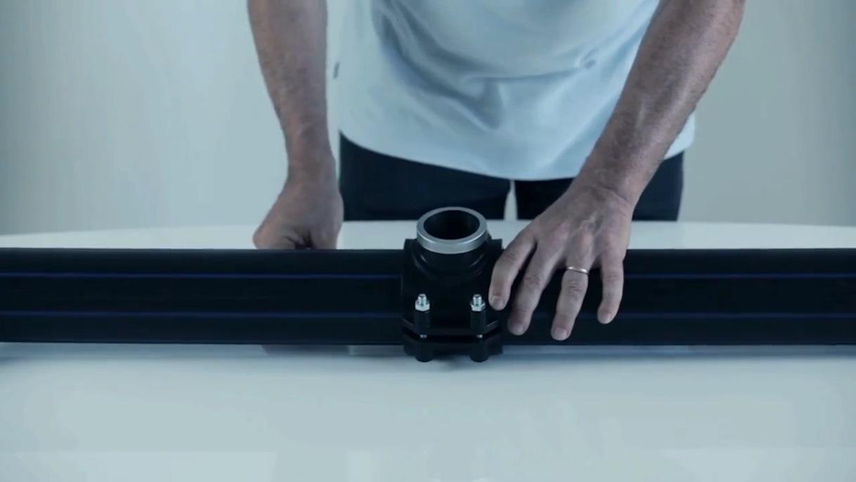 Pn16 200mm noir Tuyau d'approvisionnement en eau du tube HDPE