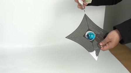 De Douane die van het Metaal van de Melodie van de Decoratie van de tuin 3D Spinner van de Wind hangen