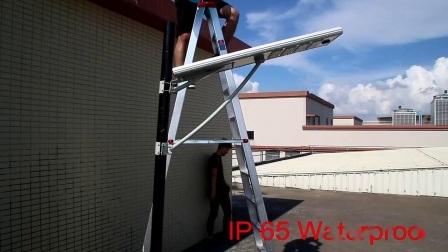 Piscina de 40W 50W 60W 80W 100W integrado Impermeable IP65 Todo en uno de los LED Sensor de movimiento Luz solar calle
