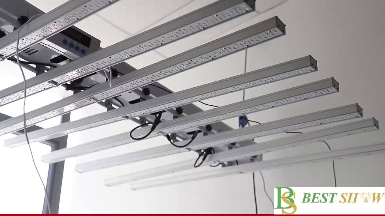 2,8umol Vollspektrum-Wachstumslampe für den Anbau von Nutzpflanzen hydroponisch Wachstum 480W 600W 660W 800W Ultraviolett faltbare dimmbare LED wachsen Licht für Hanf Marihuana