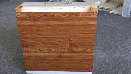 Du grain du bois parement décoratives externe pour la structure en acier chambre
