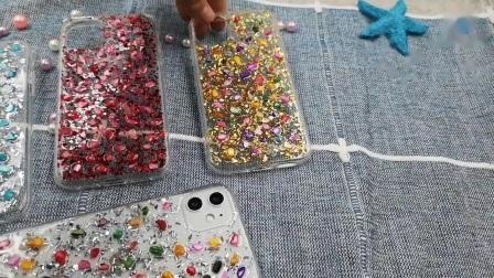 Luxus Riverstones bunte Bling Bling Telefon Cover für iPhone 11 12