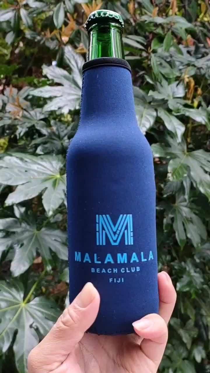 La impresión personalizada aislados de neopreno el refrigerador de botellas de bebidas cerveza Portabotellines (BC0003)