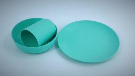 生物分解性PLAのタケファイバー党テーブルウェアはメラミンなしでセットした